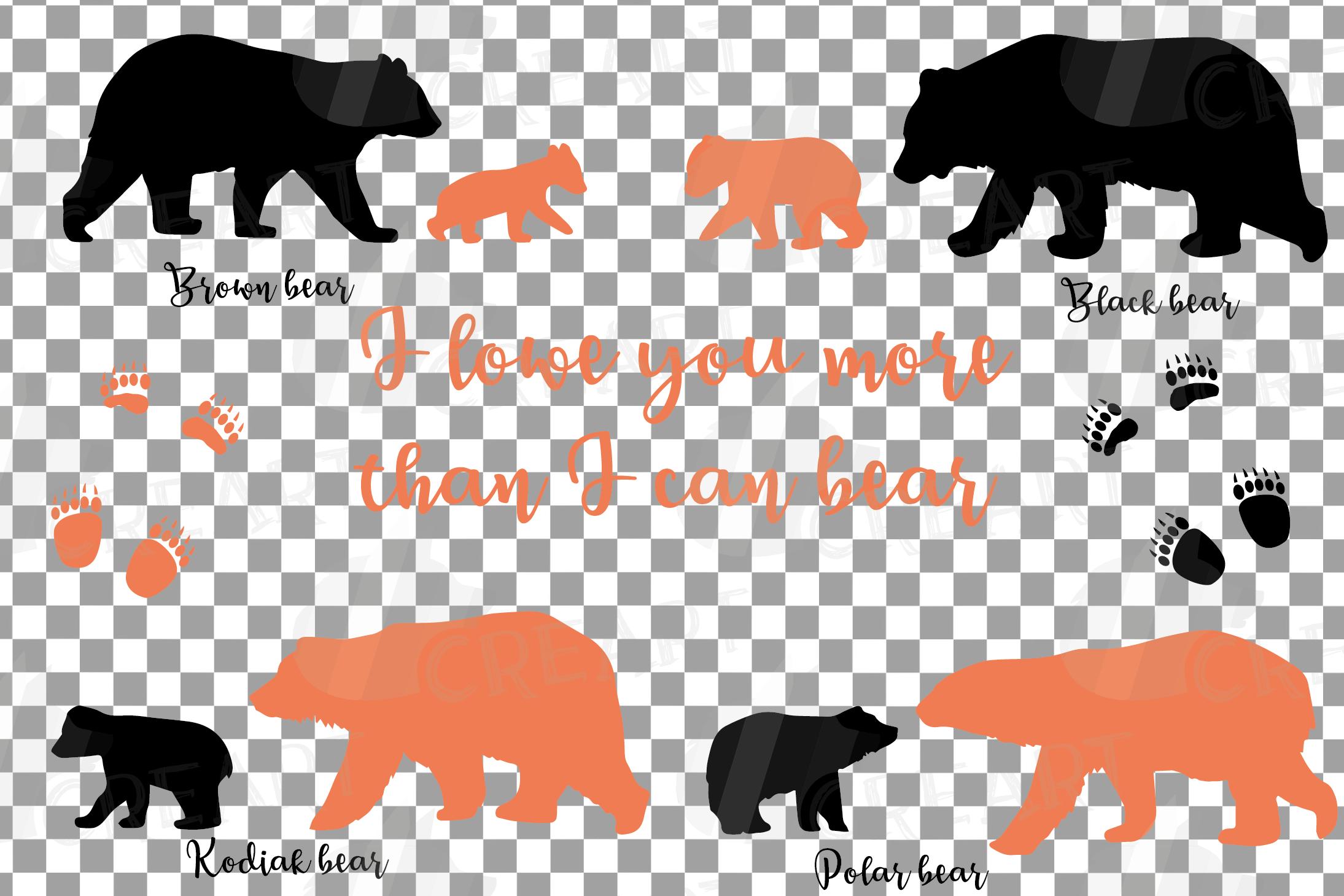 Baby and mama bear nursery clip art collection, bears print example image 2