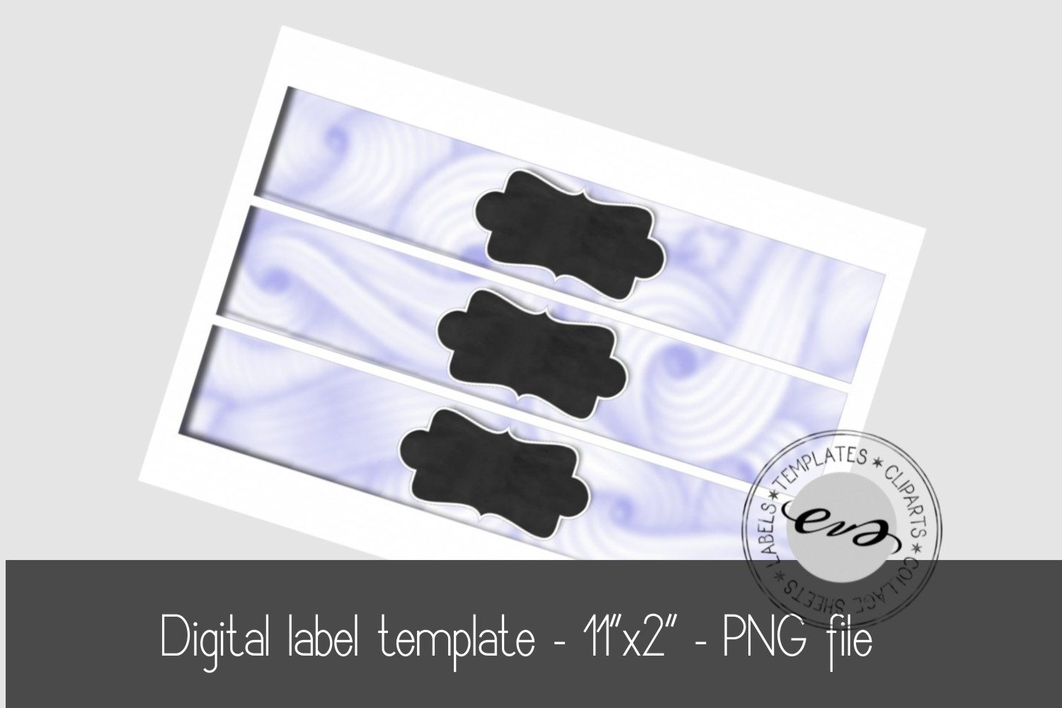 Digital label template example image 1