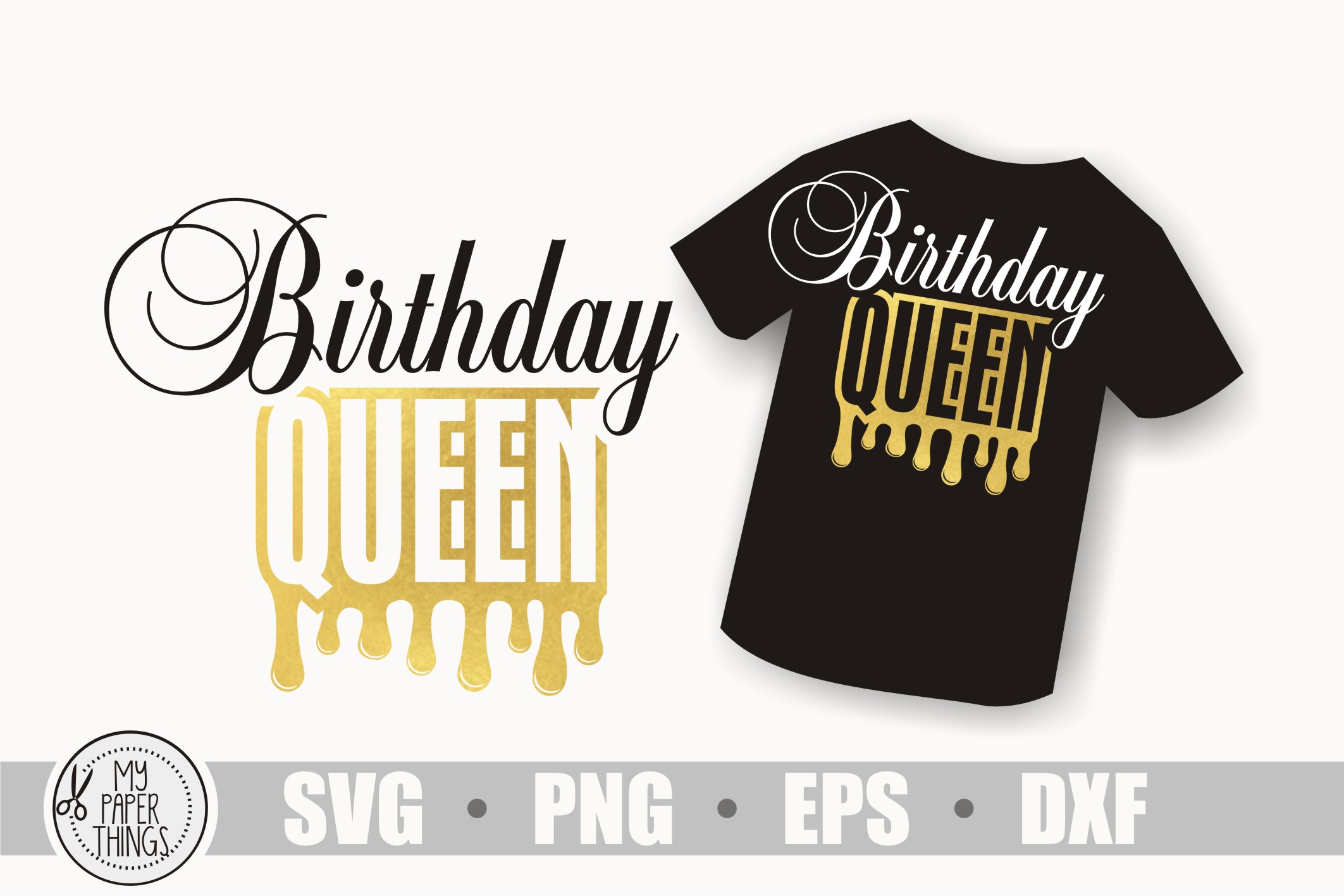 Birthday queen svg, Birthday svg, Women's birthday svg example image 1