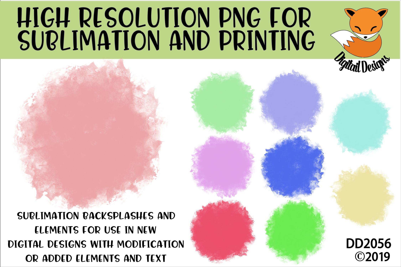 Circle Watercolor Sublimation Background Element Bundle example image 1