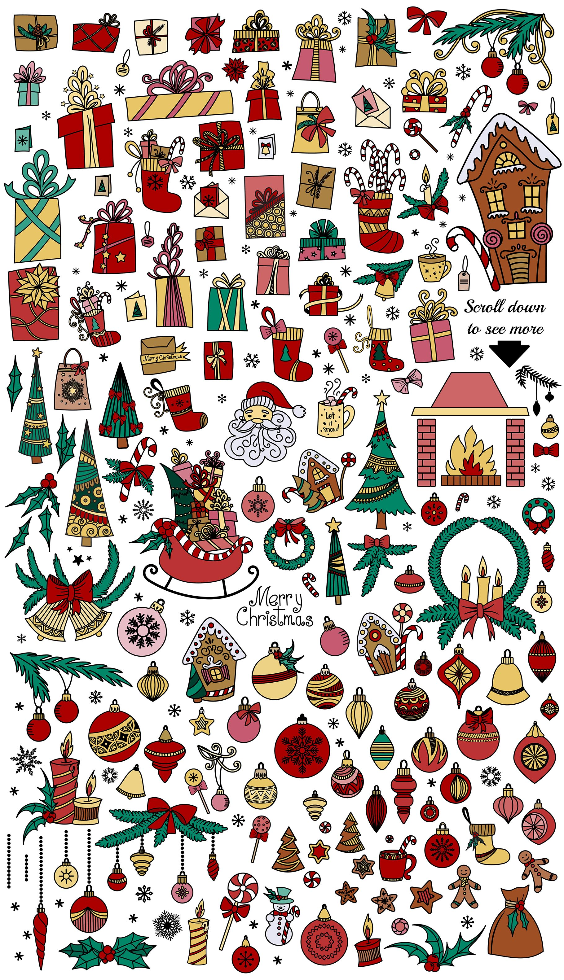 Christmas Doodles example image 5