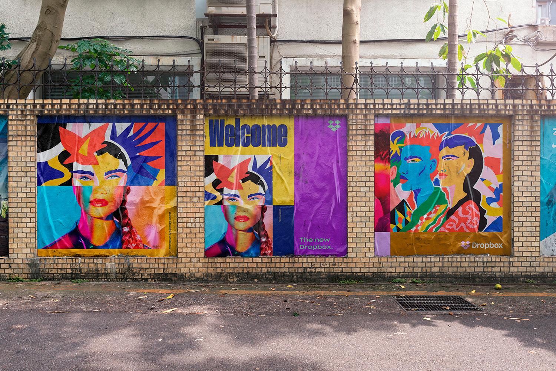 12 Realistic Mural Street Mockup - PSD example image 13