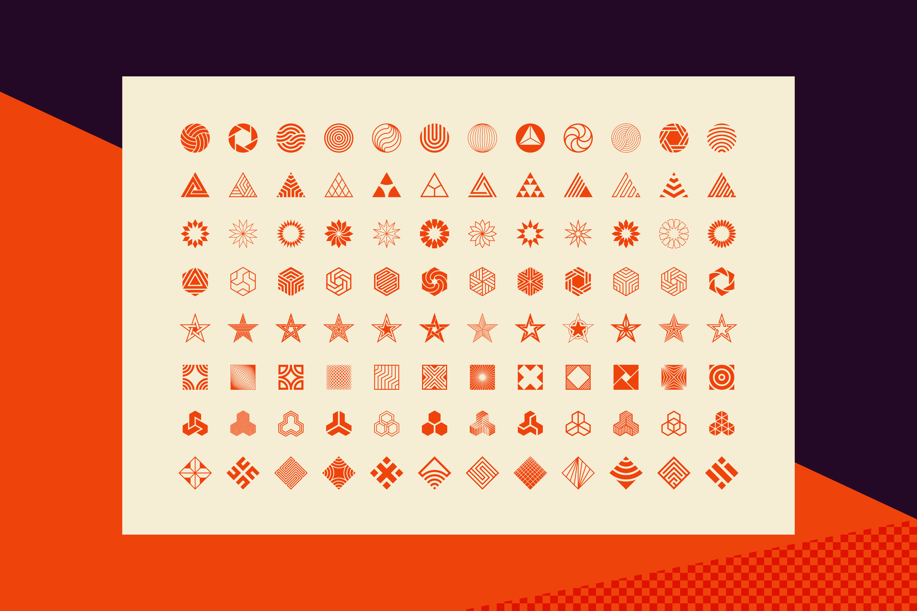 96 Abstract logo marks & geometric shapes collection example image 15