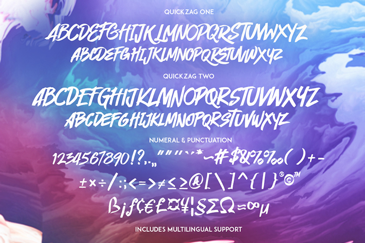 QUICKZAG - Marker font example image 7