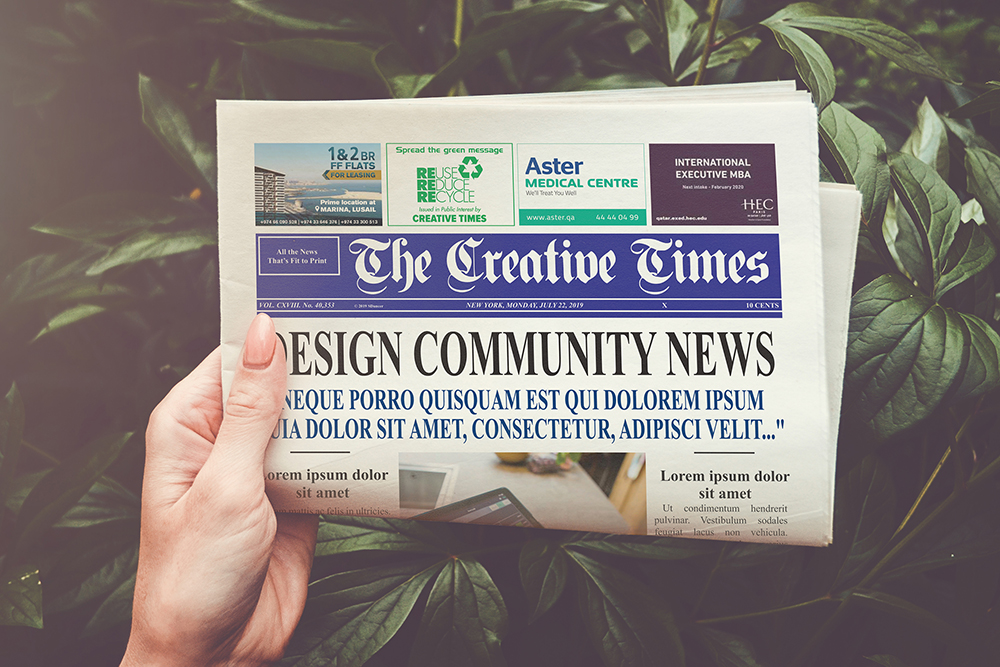 a4 Newspaper Mockups example image 1