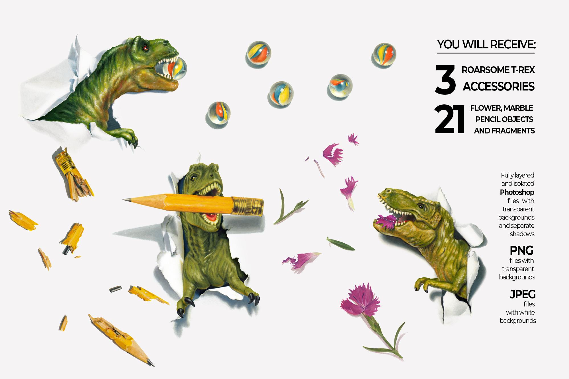 Dinosaurs Misbehaving- RoarsomeT-Rex example image 4