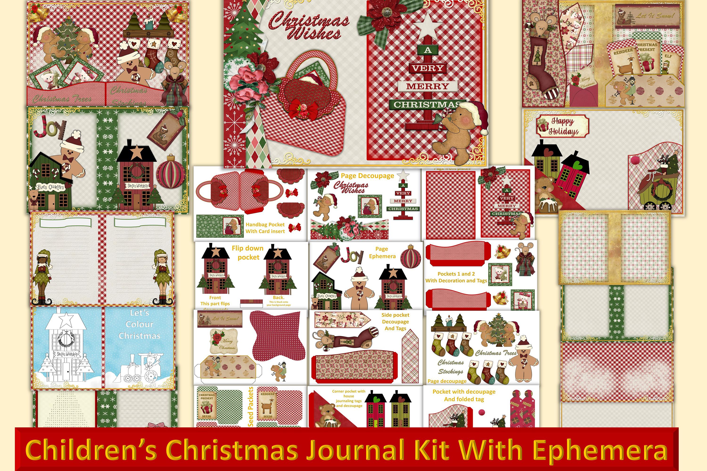 Children's Christmas Journal Kit with Free Ephemera example image 1