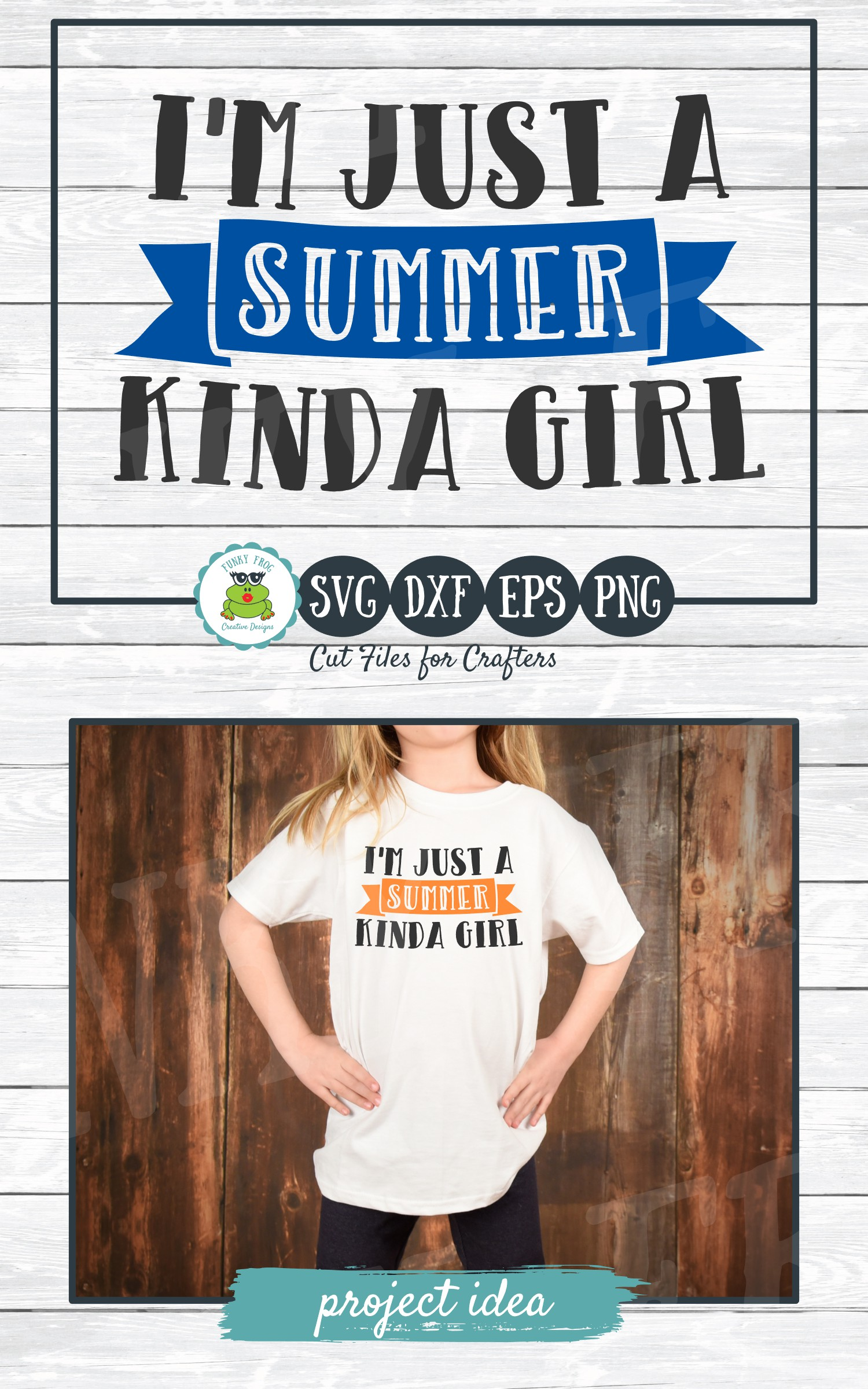 I'm Just a Summer Kinda Girl, SVG Cut File for Crafters example image 4