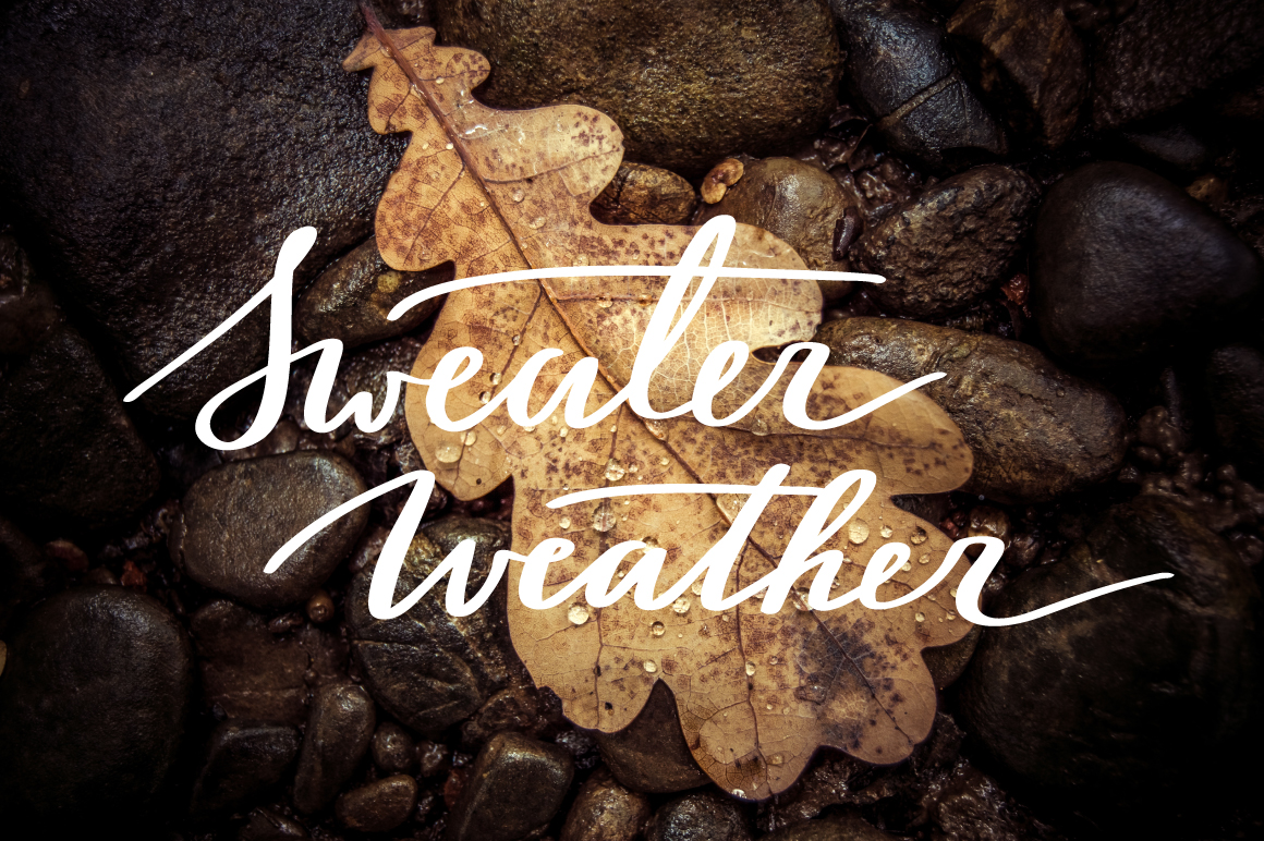 Lettering Pack about Autumn example image 4