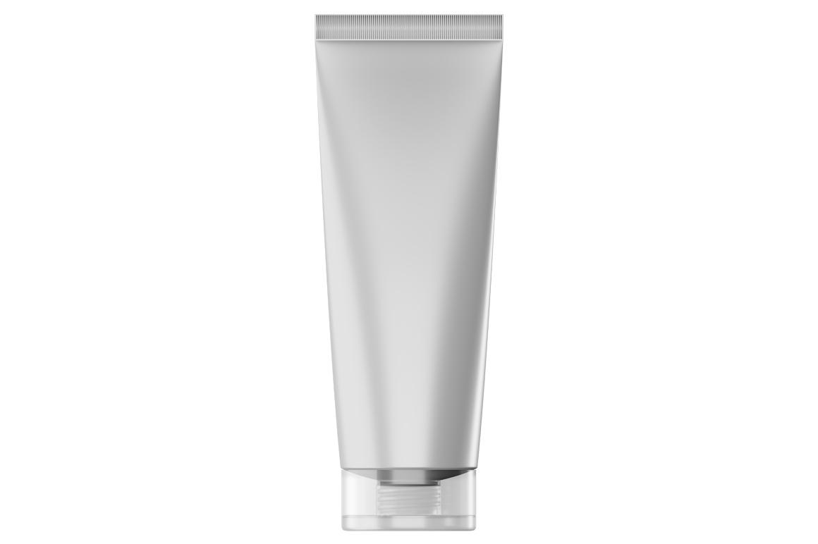 Cosmetic tube mockup. Transparent lid. Product mockup. example image 3