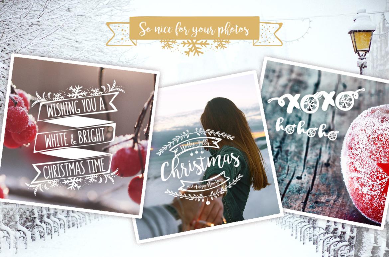 Christmas Overlays – Vector Set example image 3