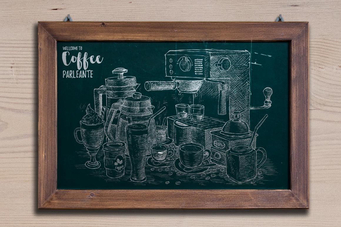 Watercolor Coffee Black Parleante example image 5
