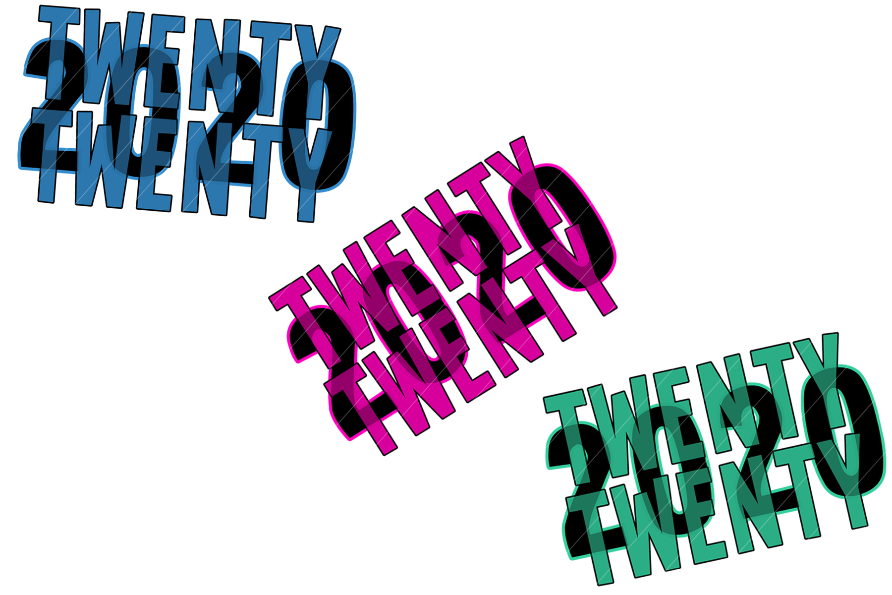 2020 New Year Designs for PRINTING, High Resolution example image 10
