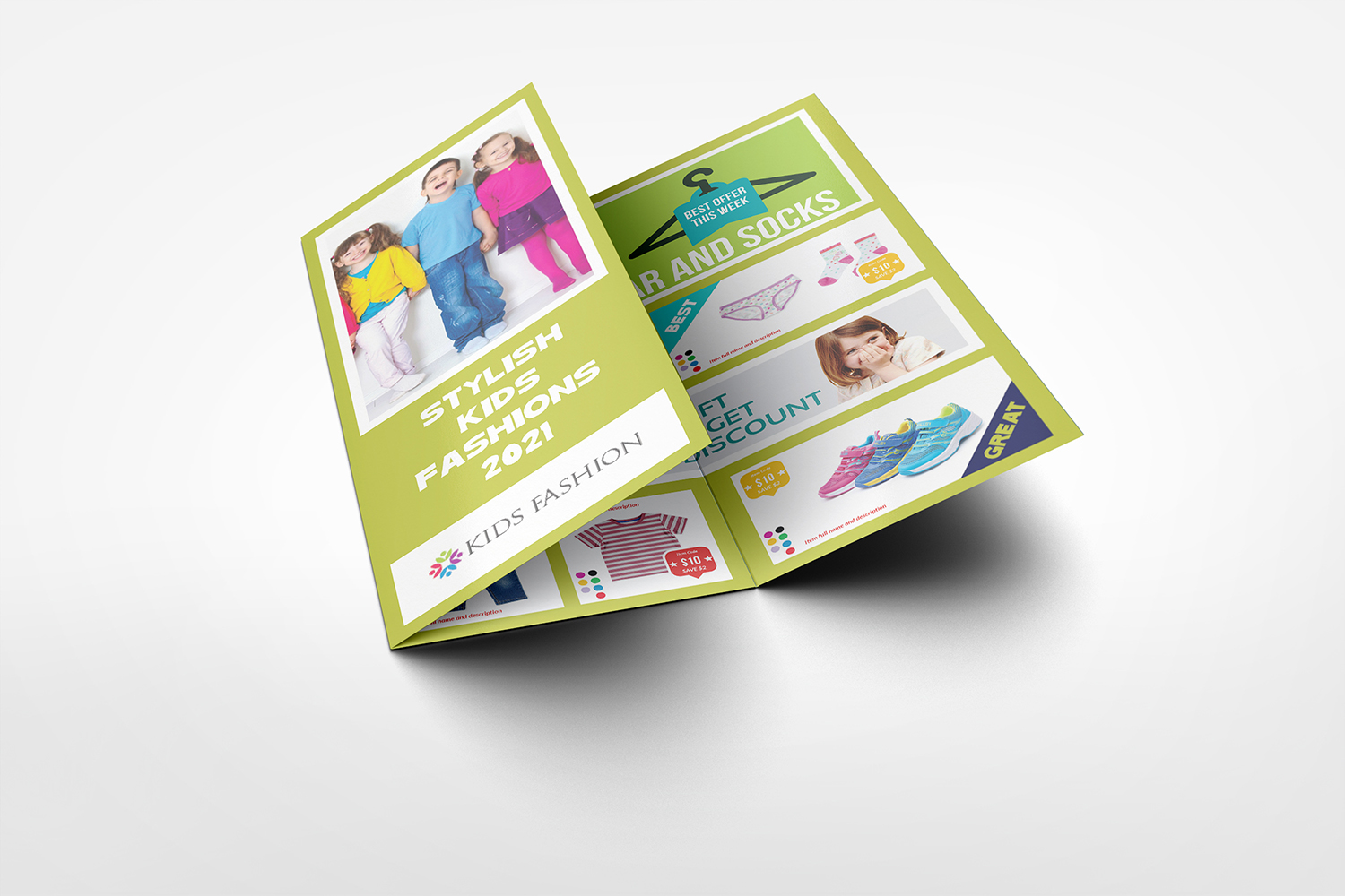 Kids Fashion Products Catalog Tri-Fold Brochure Tempalte example image 4