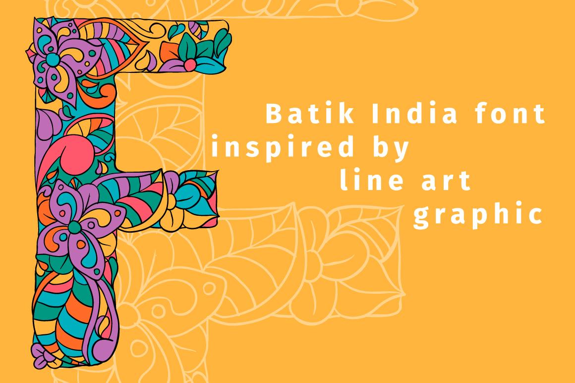 Batik India Color Font example image 2
