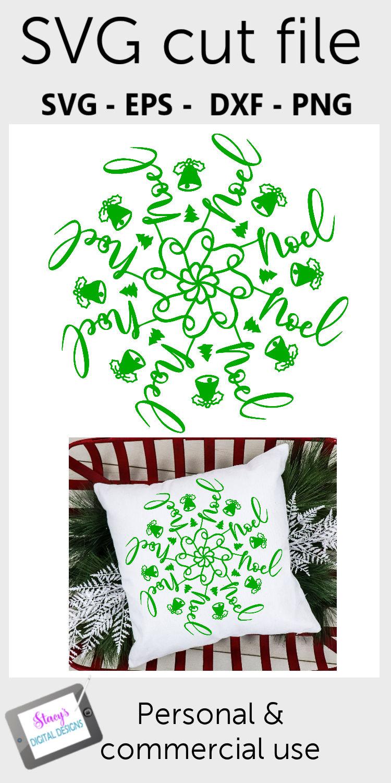 Mandala SVG - Noel mandala svg - Christmas SVG example image 2