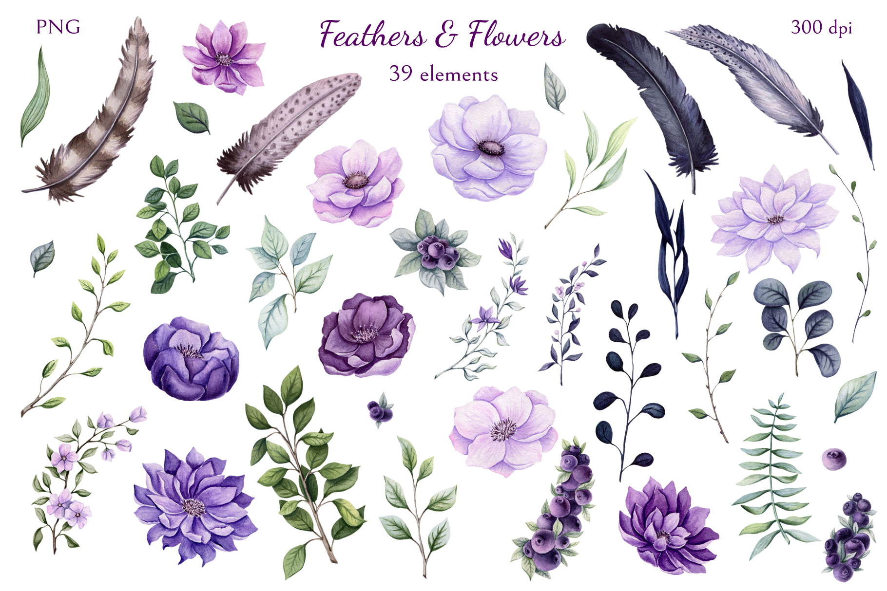 Feathers & Flowers example image 2