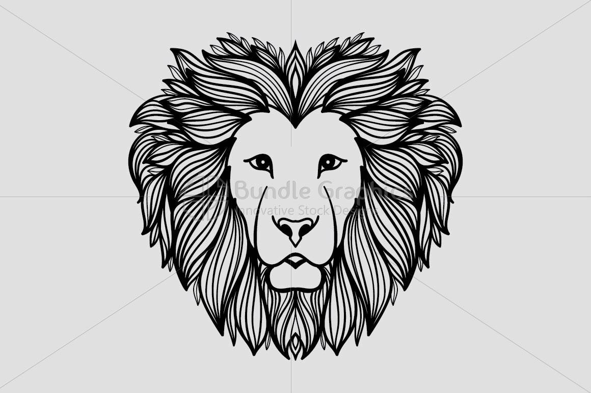 Artistic Mirror Graphics of Wild Animal Lion example image 2