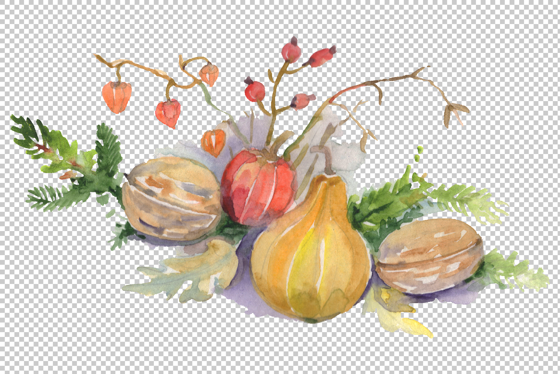 Christmas bouquet warmth of the soul Watercolor png example image 4