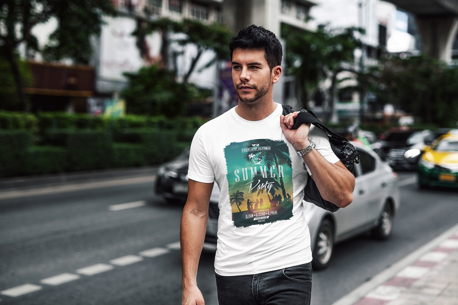 T-Shirt Mock-Up Casual Style example image 3