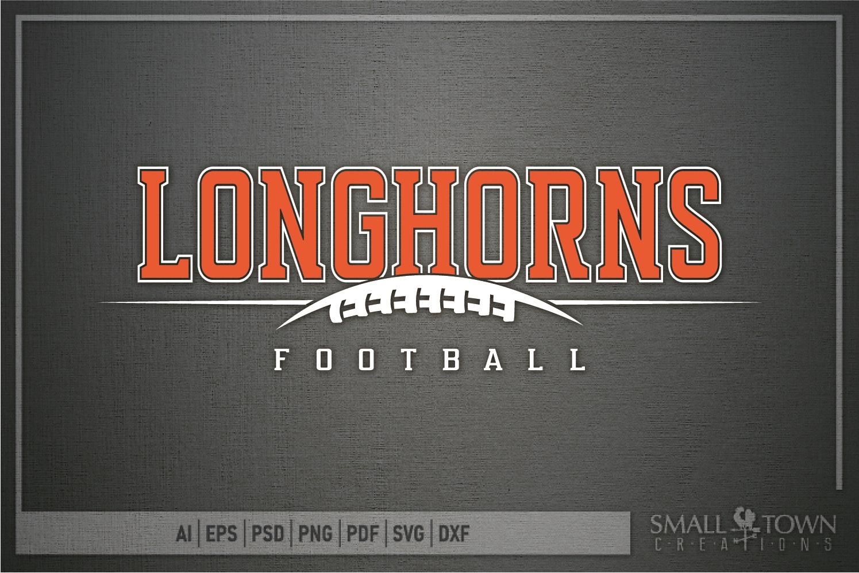 Longhorn, Football Team, Logo, Sport, PRINT, CUT & DESIGN example image 4