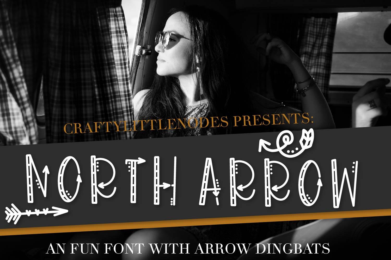 North Arrow - An Arrow Font & Dingbat Duo example image 1