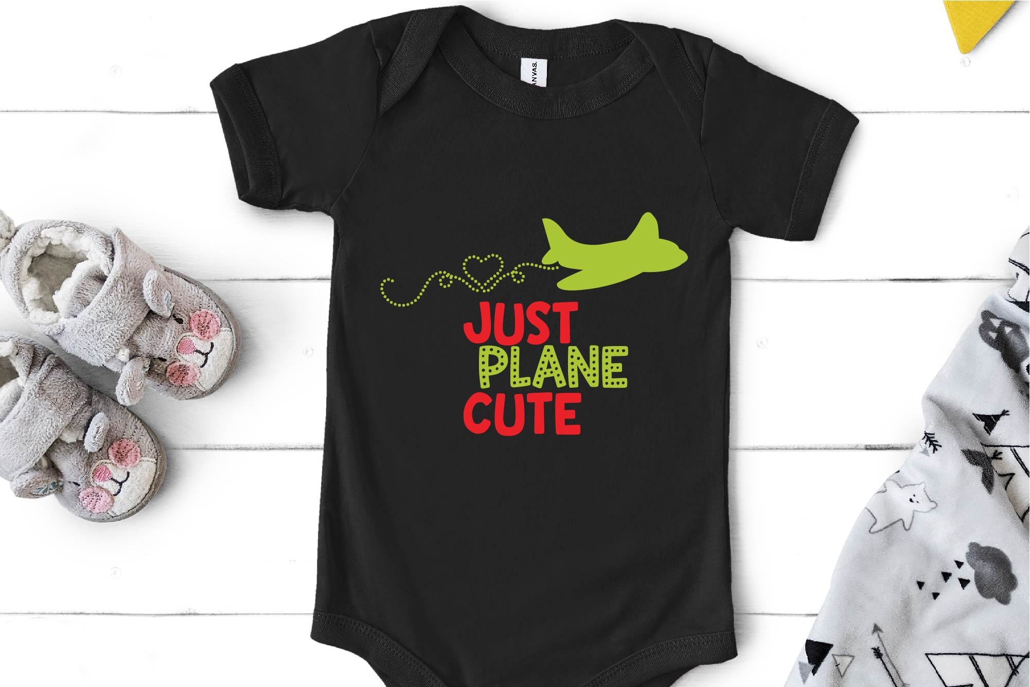 Valentine's Day SVG Just Plane Cute, Airplane Sublimation example image 1