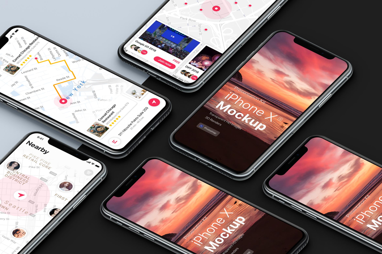 Presentation Kit - iPhone showcase Mockup_v1 example image 4