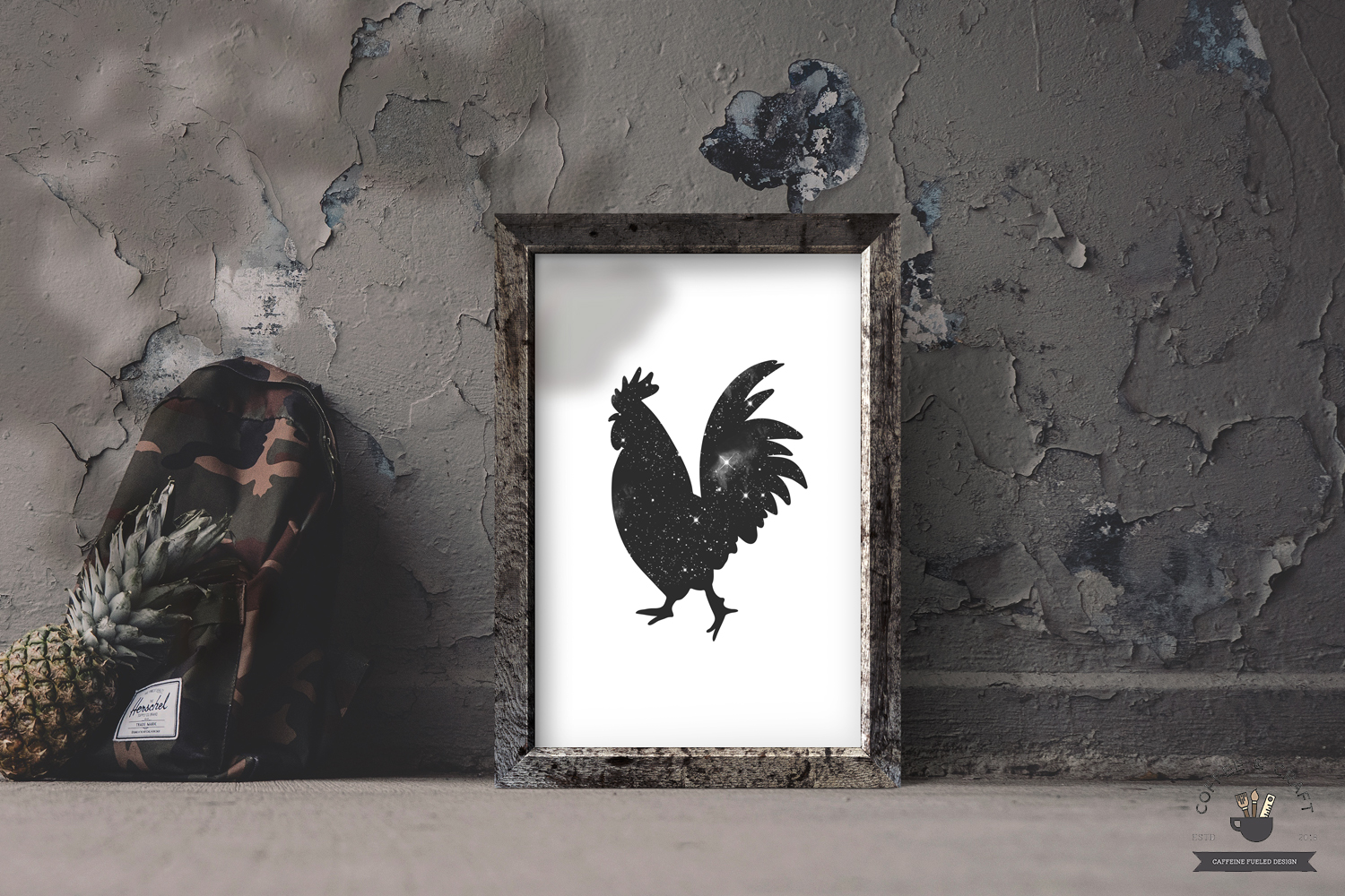 Rooster silhouette set example image 5