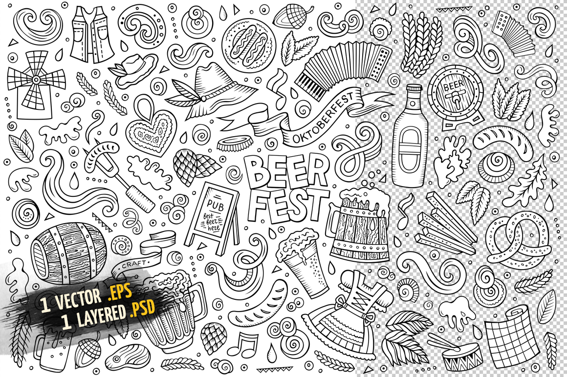 Beer Objects & Elements Set example image 2