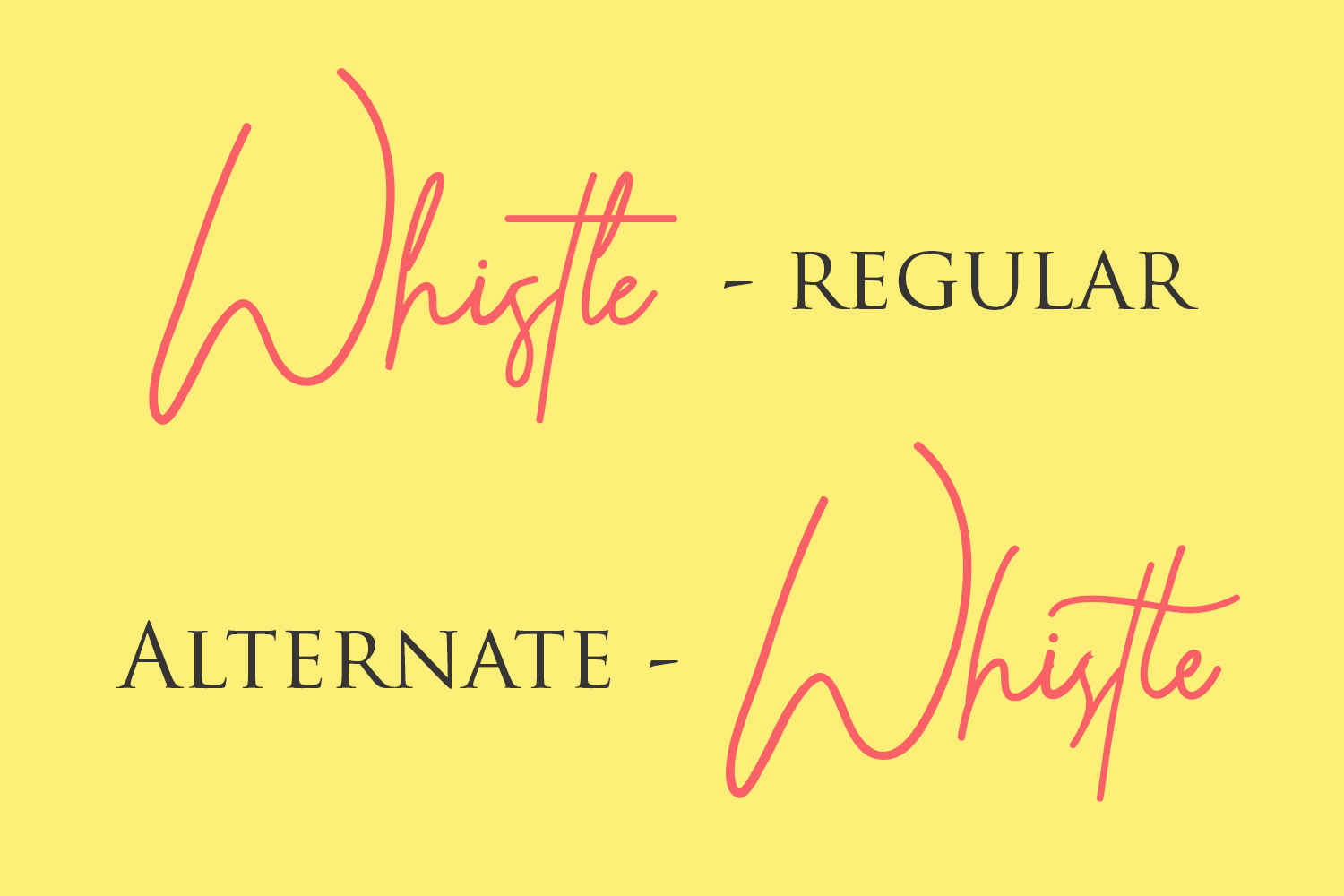 Whistle - Signature font example image 6