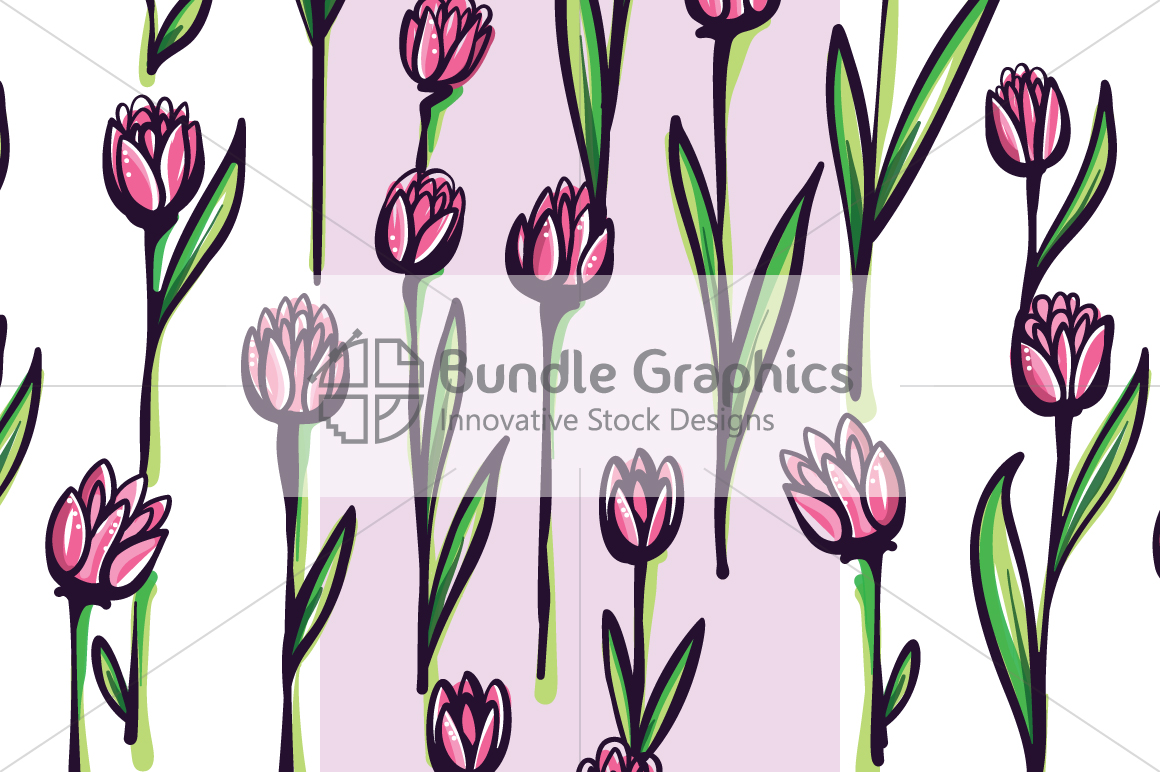 Vector Floral Pattern Pack example image 5