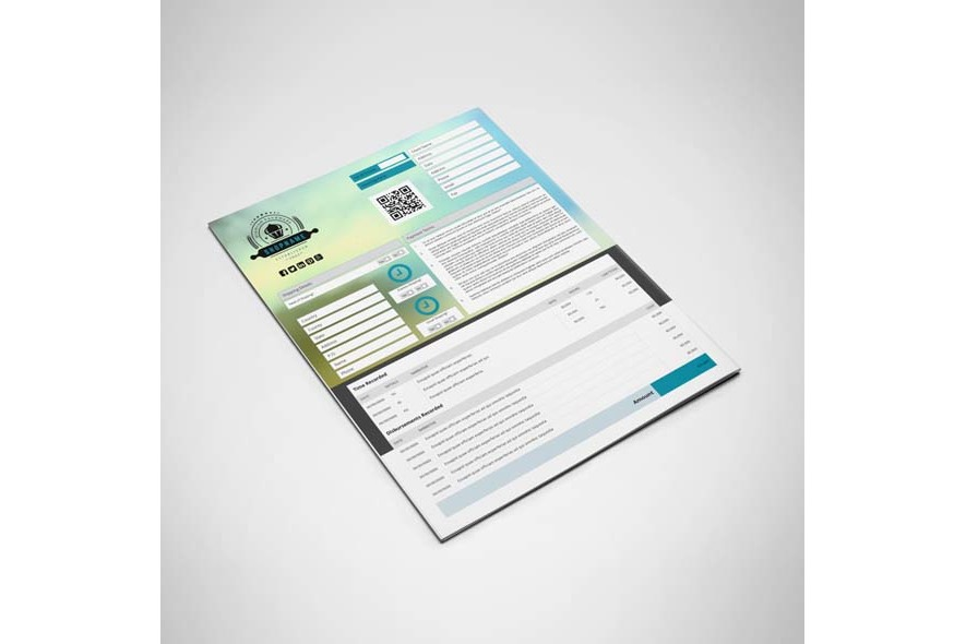 Business Invoice US Letter Template example image 2