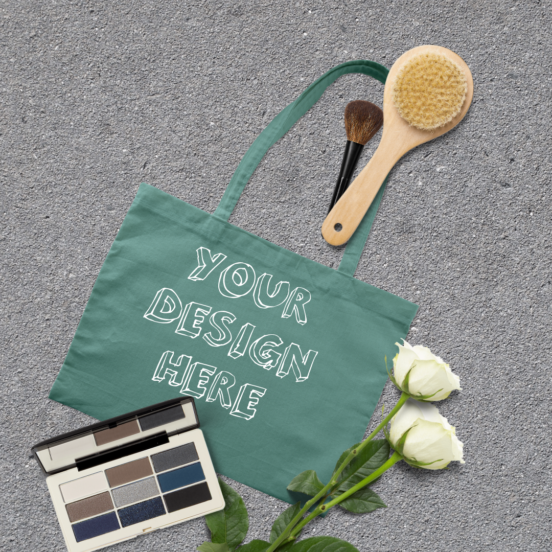 MEGA Bundle|Tote Bag Mockups with White Roses & Makeup Brush example image 2
