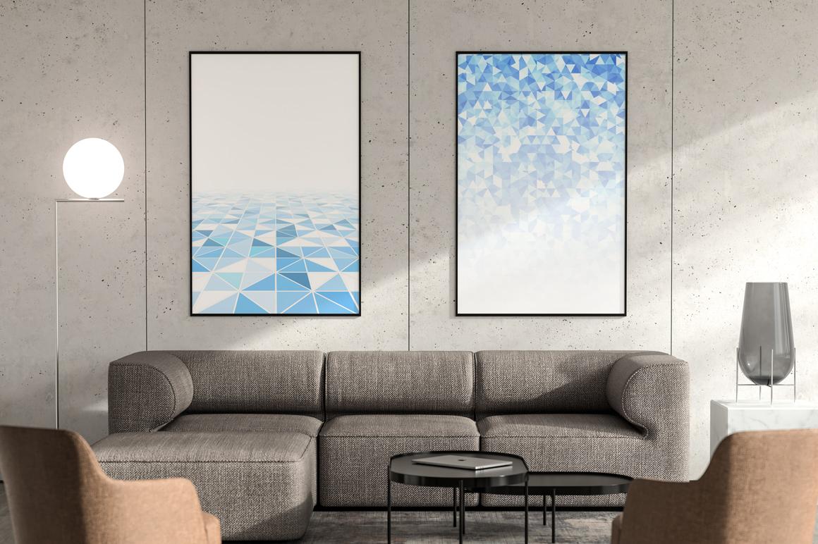 Blue mosaic digital covers,brochures example image 2