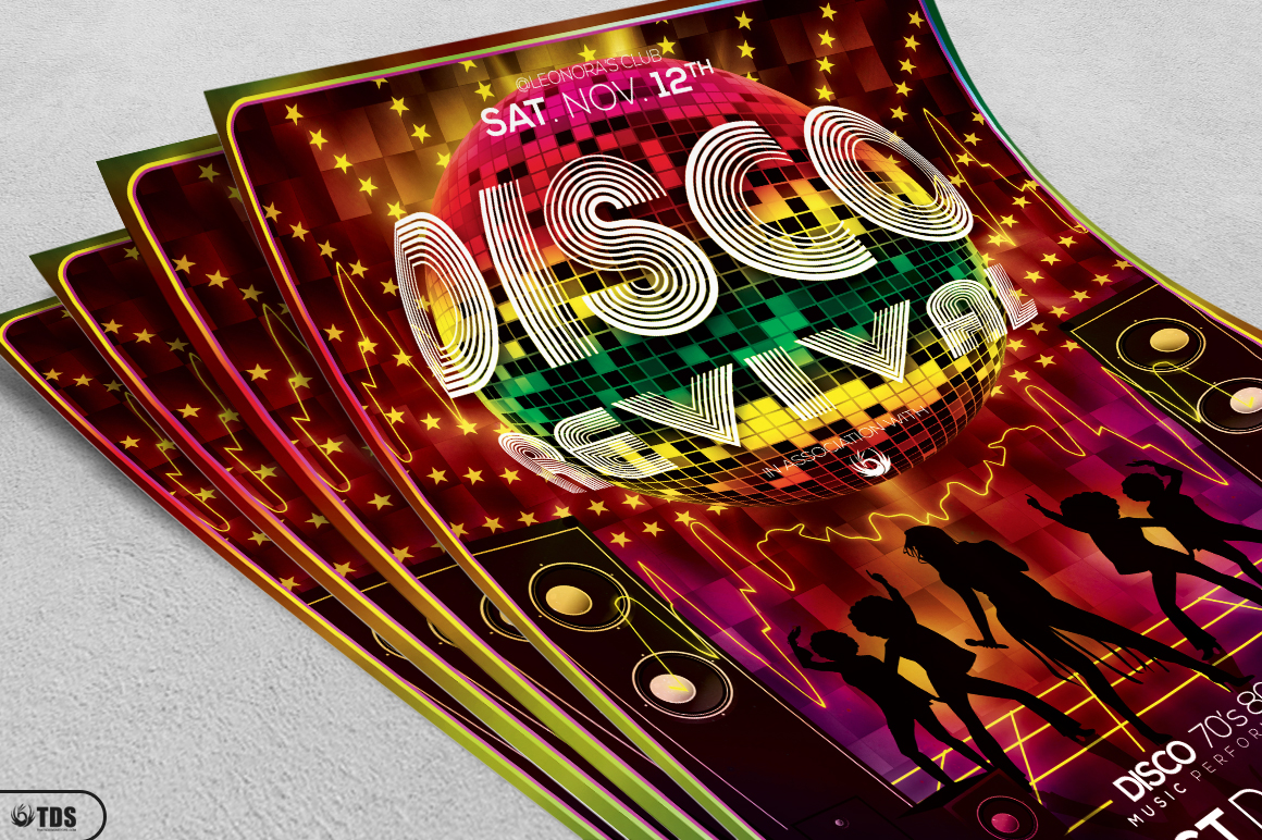 Disco Revival Flyer Template V1 example image 3