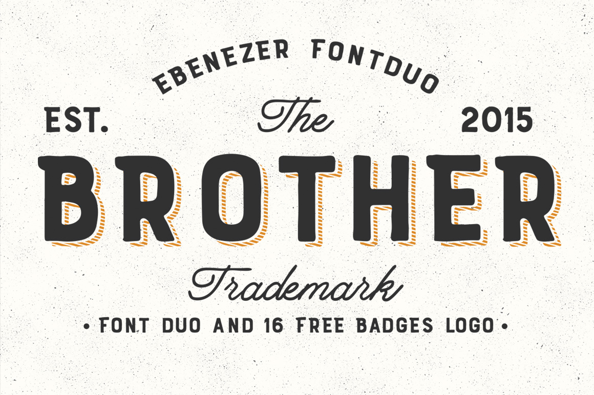 Brother Font Duo + 16 Badges Logo example image 1