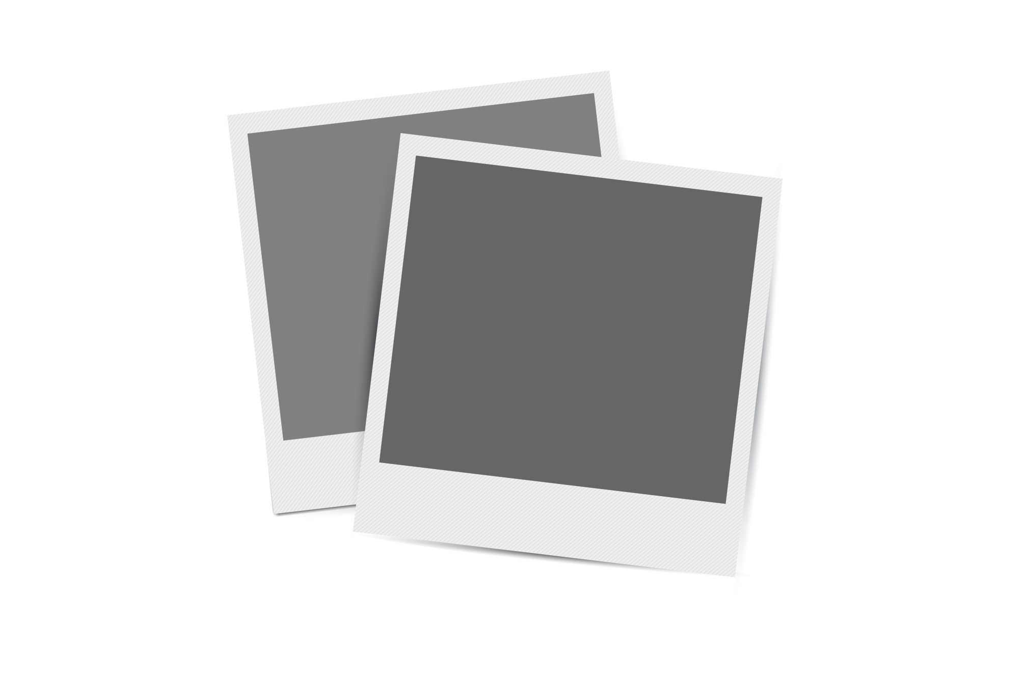 Collection of retro photo frames. example image 5