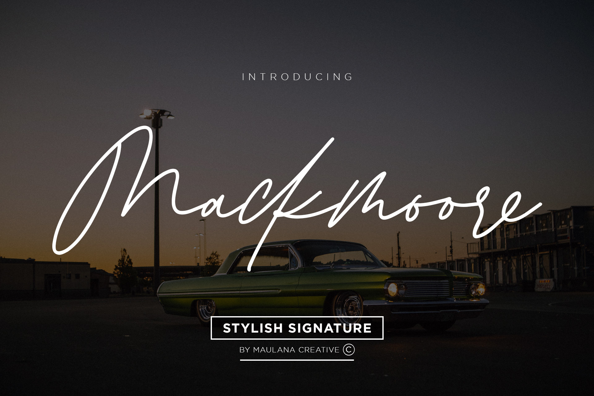 Mackmoore Signature Font example image 1