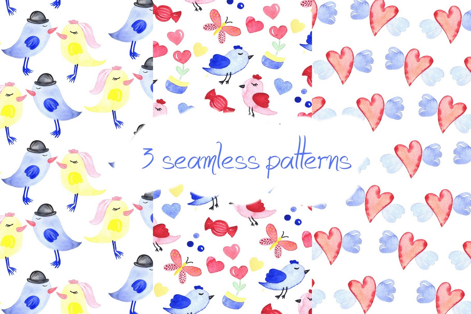 Love collection. Elements patterns example image 3