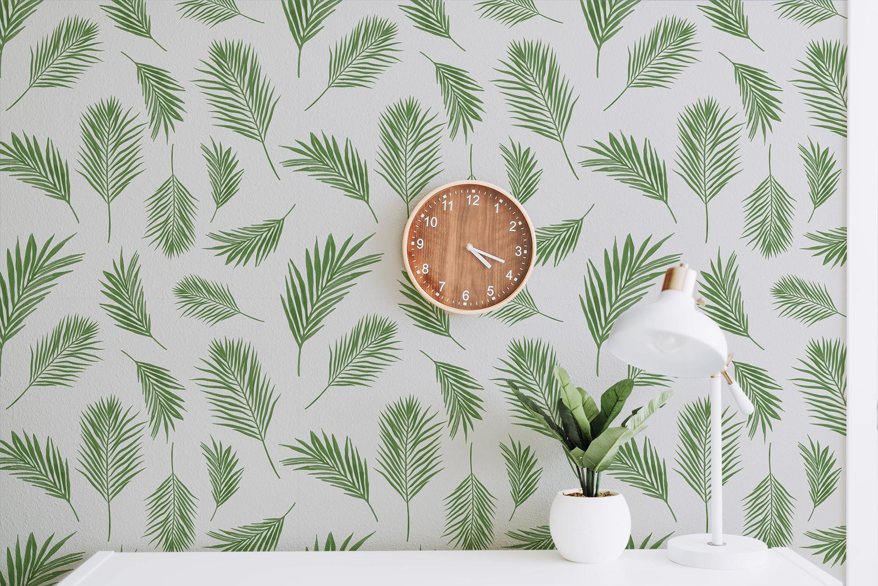 Seamless Pattern with Tropical Plant Bundle example image 4