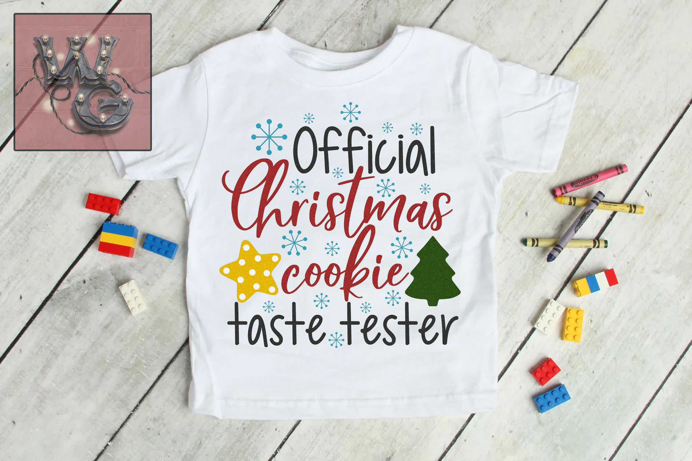 Official Christmas Cookie Test Taster SVG DXF PNG JPG example image 1