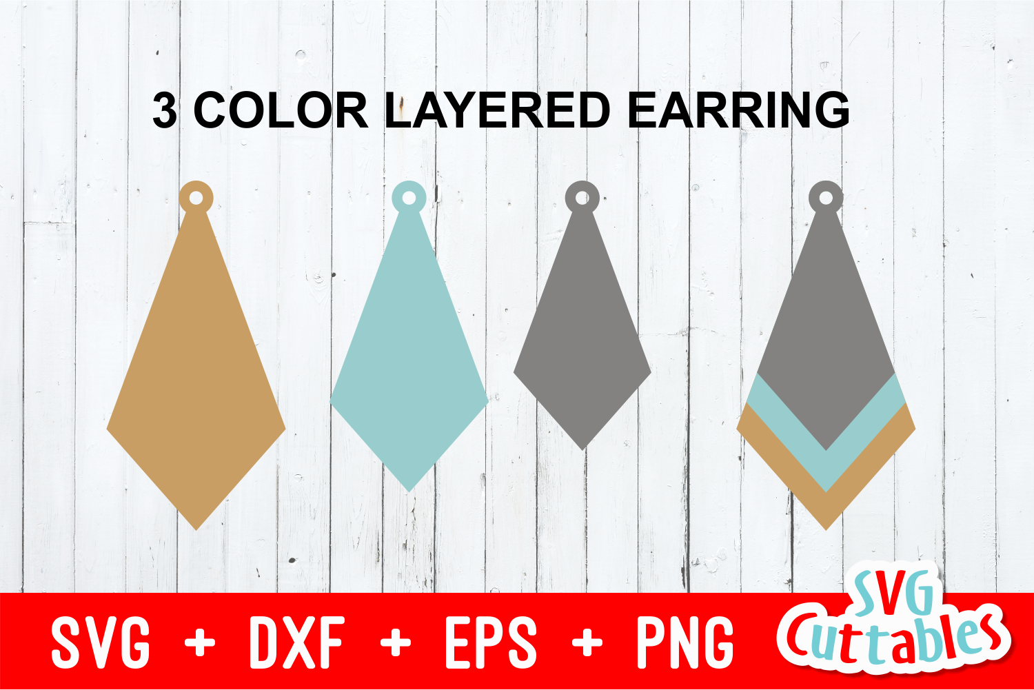 Earring Bundle | SVG Cut Files example image 4
