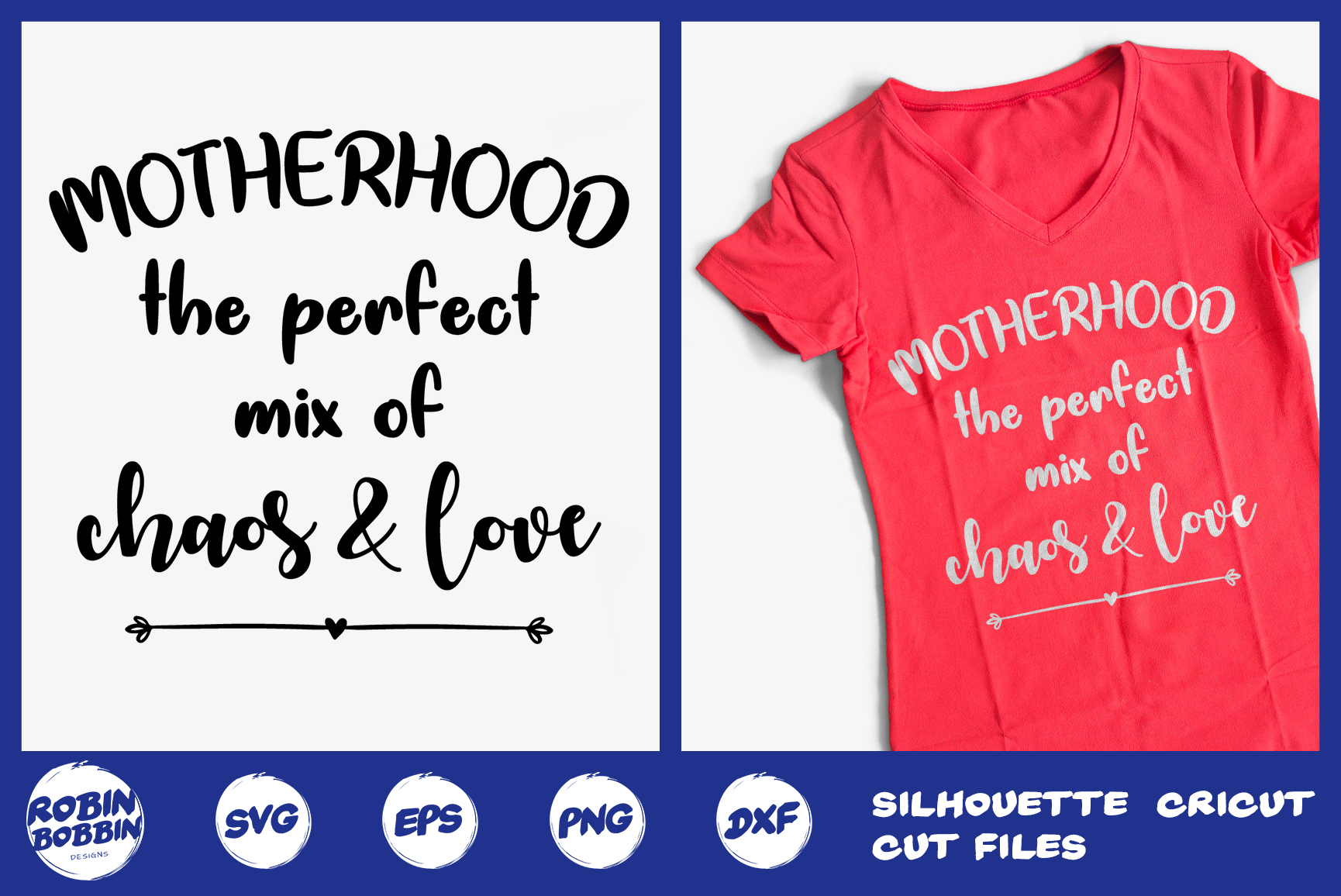 Motherhood The Perfect Mix Of Chaos & Love svg - Mother SVG example image 1