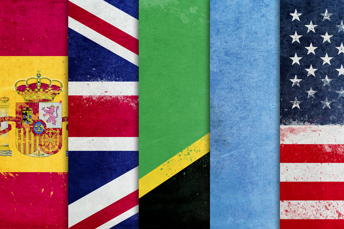 236 Grunge Flags example image 3