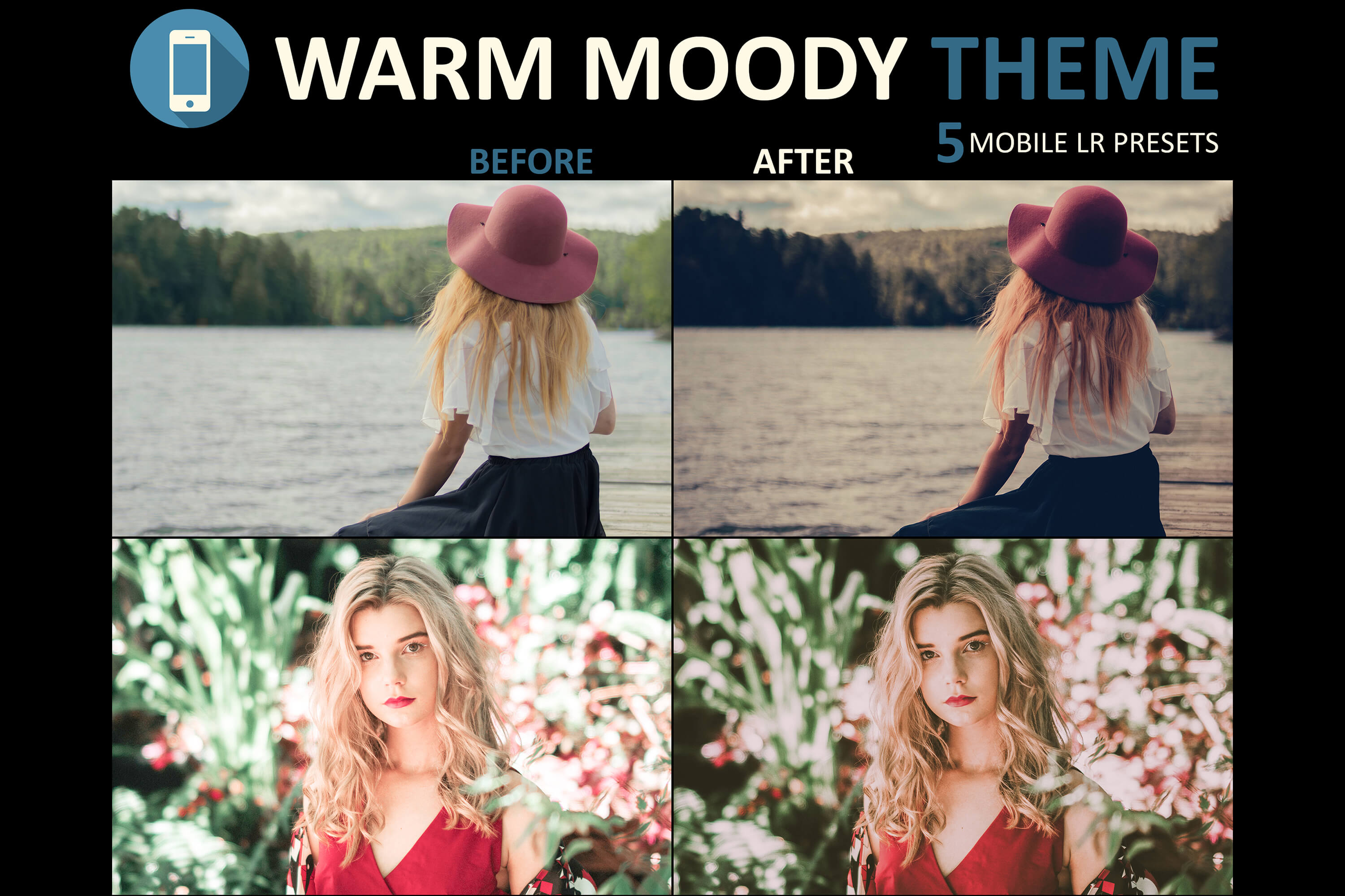 Neo Warm and Moody mobile lightroom presets
