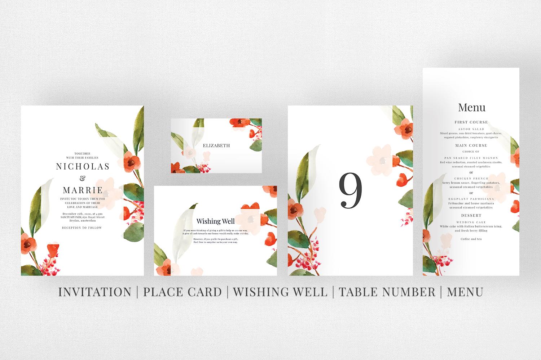 Watercolor Floral Wedding Suite example image 5