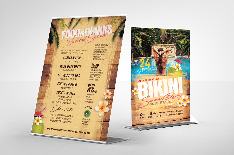 Bikini Party Flyer Template example image 4