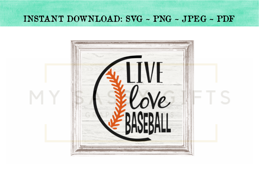 Live Love Baseball SVG Graphic Design example image 3