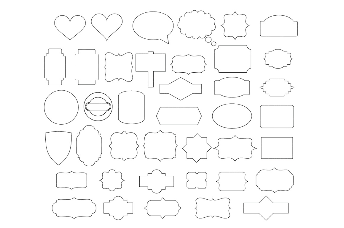 Ribbon Banner SVG, Label svg, Banner SVG files for Silhouette Cameo and Cricut. Label clipart png, Banner Clipart PNG included example image 4
